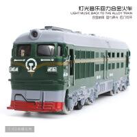 亿宝 仿真合金古典火车模型 儿童声光回力玩具车,