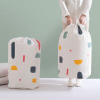 棉被收纳袋套装防潮袋衣物整理袋打包袋 几何圆桶【2件套大号+小号】