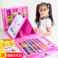 儿童画笔蜡笔幼儿园全无毒水洗彩色水彩笔安画画套装文具小伶玩具