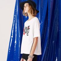 【1件3折到手价:23.7】美特斯邦威米奇短袖T恤女可爱百搭打底衫学生夏装新款商场款