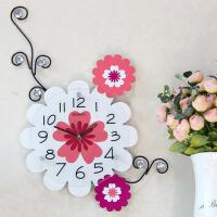 创意钟表挂表鸟语花香田园静音时钟挂钟客厅个性