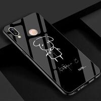 2018新款 TFboys鹤儿易烊千玺同款华为nova3手机壳 钢化玻璃镜面防摔保护套