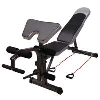 多功能哑铃凳健身椅哑铃飞鸟训练器仰卧起坐板仰卧板腹肌板牧师椅 默认