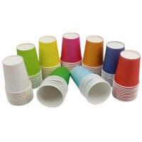 创意手工制作材料 彩色纸杯 一次性杯子 彩绘 DIY 10个装 颜色*