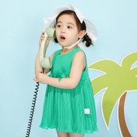 【5.16-5.17日抢购价:39.9】moomoo童装女幼童梭织雪纺连衣裙