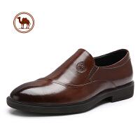 骆驼牌男鞋黑色皮鞋男韩版真皮男士商务正装牛皮休闲鞋子内增高潮