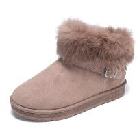 冬季加棉高帮女鞋加绒保暖马丁靴女生靴子雪地靴休闲真皮
