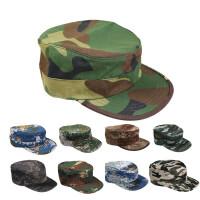 迷彩帽男女夏季户外军迷用品学生军训帽作训帽战术帽平顶帽 平顶帽