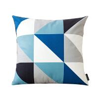北欧现代几何简约沙发靠垫 绒面抱枕含芯办公室抱枕创意靠枕