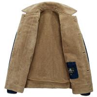 男装牛仔棉衣 男加绒冬装青年外套保暖上衣