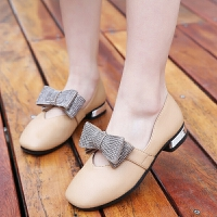 女童鞋子新款春季时尚豆豆公主鞋女孩单鞋儿童奶奶鞋