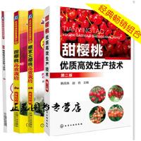 4册 甜樱桃高效栽培+甜樱桃优质高效生产技术+棚室大樱桃高效栽培+图说樱桃病虫害诊断与防治 樱桃树种植栽培技术书籍大全