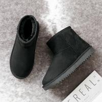 雪地靴女2018冬季新款保暖短靴子加绒加厚短筒防滑鞋子一脚蹬棉鞋