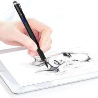 触控笔手写笔苹果iPad平板笔记本主动式电容笔华为vivo三星OPPO小米手机安卓ios通用细头P 爵士黑