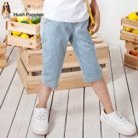 【3件3折:119.4元】暇步士童装女童牛仔七分裤夏装新款中大童短裤儿童七分裤