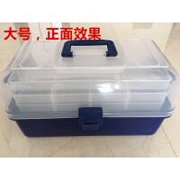 路亚盒饵盒手提折叠钓鱼工具箱多层工具盒渔具收纳盒配件盒钓鱼盒