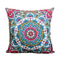东南亚民族风棉麻大靠垫现代中式沙发茶室抱枕套波西米亚床头靠枕