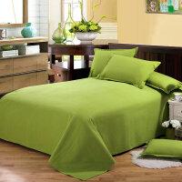 纯棉老粗布床单单件 棉布加厚纯色床单双人素色被单1.5米1.8m床