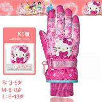 儿童滑雪手套防水保暖男童女童小孩五指卡通学生亲子加厚冬季手套