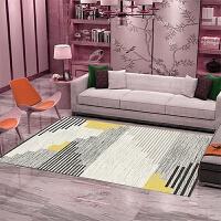 沙发地毯客厅北欧家用茶几毯简约现代风格卧室满铺定制榻榻米地垫 蓝色 图1条纹