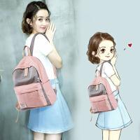 双肩包女帆布背包初中高中学生校园原宿ulzzang书包2018新款韩版