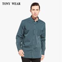 TONYWEAR汤尼威尔秋季商务休闲中青年条纹长袖衬衫衬衣男