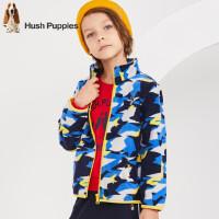 【秒杀价: 99元】暇步士童装秋季新款男童外套时尚帅气迷彩摇粒绒外套儿童外套