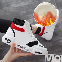 运动鞋 女士加厚保暖加绒高帮厚底棉鞋2020冬季学生圆头平跟休闲雪地靴子