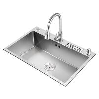 德国好太太水槽单槽 厨房洗菜盆304不锈钢洗碗槽家用手工洗碗池kb6