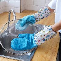 家务洗碗手套女厨房耐用防水刷碗清洁布抹布吸水不沾油