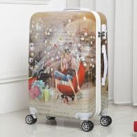 韩版涂鸦复古时尚行李箱男女学生儿童拉杆箱旅游旅行箱小清新22寸