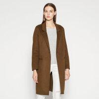 【满1000减750】纯羊毛MECITY高冷范女装秋冬简约气质西装双面呢大衣外套女中长款