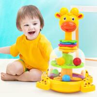 橙爱 卡通动物转转乐趣味按压旋转婴幼儿训练互动早教益智玩具