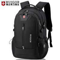 瑞士军刀双肩包男瑞士女学生书包休闲商务电脑背包潮大容量旅行包