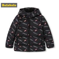 【3折价:209.4】巴拉巴拉男童羽绒服中大童新款秋冬儿童外套印花连帽厚外衣潮