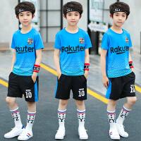 童装男童休闲套装夏装新款十岁男孩衣服儿童短袖夏季两件套潮
