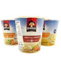 桂格(QUAKER)即食冲调燕麦片 28gx6 杯装 多种味可选 马来西亚进口膳食纤维方便速食燕麦粥