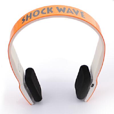 shockwave冲击波 SHB-901BH 蓝牙置麦可通话 有线无线双用耳机 亮橘色头戴式HiFi立体声内置麦可通话