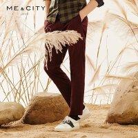 【1件3折到手价:29.97】MECITY男装春潮流修身弹力休闲长裤子