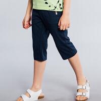 【3件3折:77.7元】暇步士童装男童2018新款夏装裤子休闲7分裤短裤中大儿童七分裤