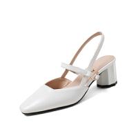 WARORWAR法国 2019新品YGN020-H-8夏季韩版中跟粗跟女鞋潮流时尚潮鞋百搭潮牌凉鞋女