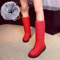 厚底棉鞋女冬新款加绒保暖妈妈鞋防水高筒雪地靴女中筒加厚