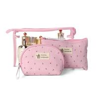 可爱简约化妆包小号便携大容量洗漱包女迷你手提化妆品收纳包