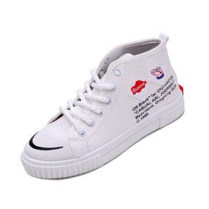 WARORWAR法国YM42-55082019新品四季休闲平底鞋舒适女鞋潮流时尚潮鞋百搭潮牌帆布鞋