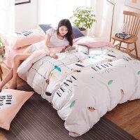 三件套床上用品四件套纯棉1.5m1.8米双人被套件