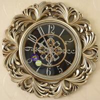 丽盛创意时尚挂钟静音欧式田园仿古客厅石英钟表摆钟个性时钟挂表挂钟圆形钟表 B8125-11