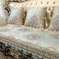 欧式沙发垫四季防滑布艺通用客厅123组合套蕾丝真皮坐垫定做