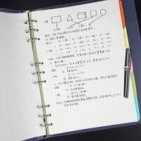 活页笔记本文具A4可拆卸活页夹A5空白简约商务本子B5方格本加厚
