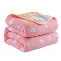 六层毛巾被纯棉纱布被子单人双人夏季薄款幼儿园儿童婴儿午睡盖毯婴儿毛毯加厚毛毯被加厚加量冬天单人被小孩