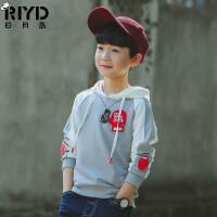 童装男童卫衣新款春装7中大儿童外套学生连帽上衣韩版潮